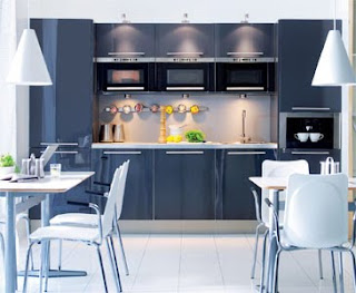 Contemporary kitchen with Stainless Steel Cupboard Handles