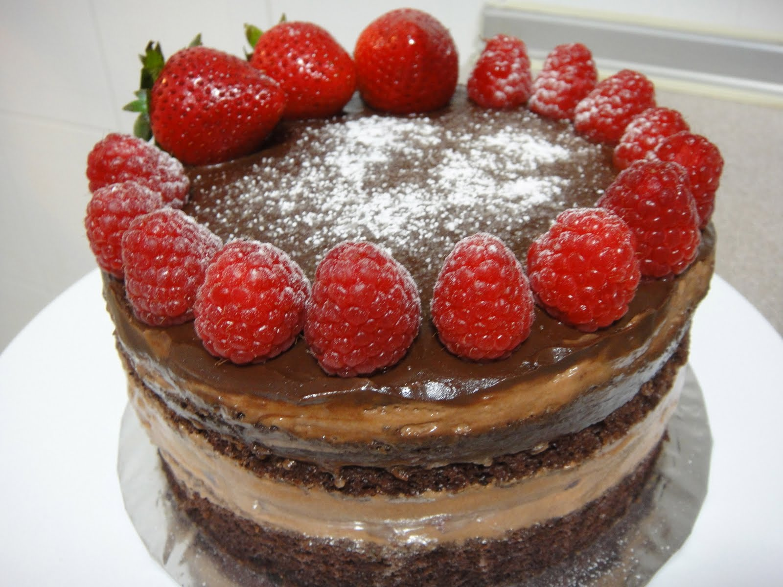 Simple Indulgence: Chocolate Strawberry Cake