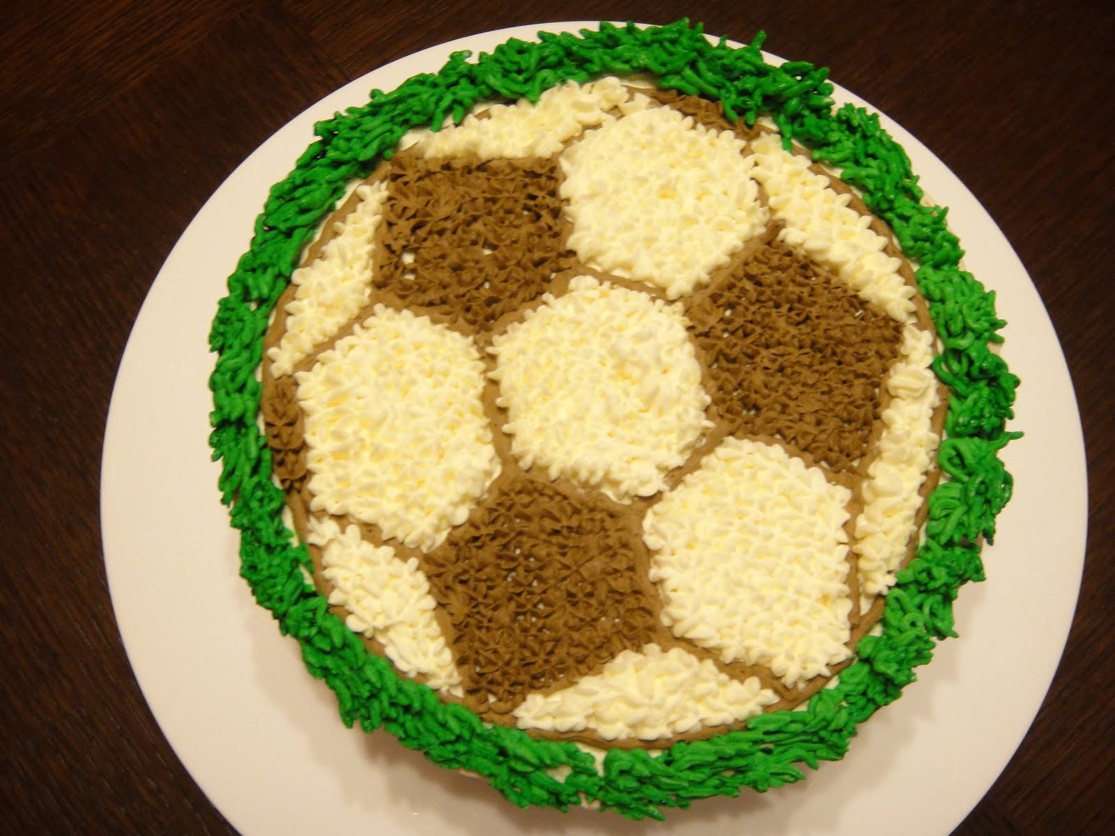 Simple Indulgence Football Design Birthday Cake
