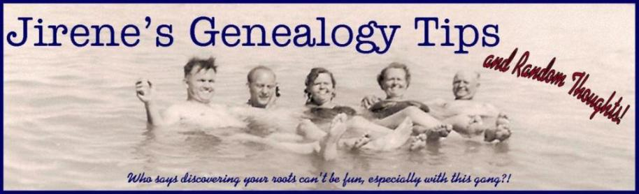 Jirene's Genealogy Tips