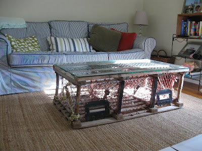 green bicycle coffee table makeover