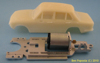Resin slot car bodies
