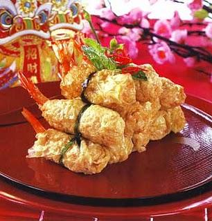 Udang bungkus kembang tahu resep masakan sup kembang tahu