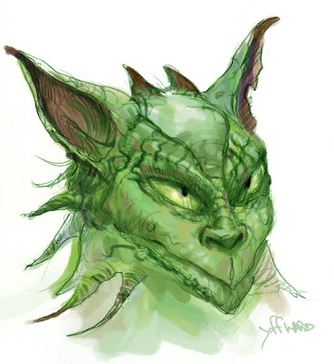 Creature Sketch in Green fantasy art