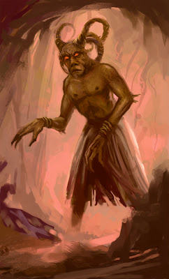 Cave Faun fantasy art