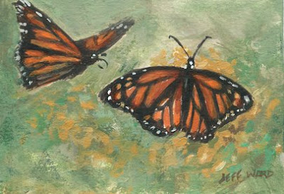 ACEO butterflies painting