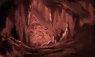 fantastical cave illustration