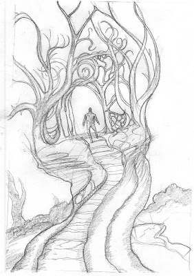 creepy tree sketch