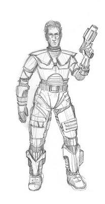 space marine sketch