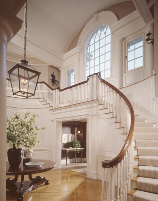 Beautiful curved staircases in new jersey luxury stairs for Luxury staircases