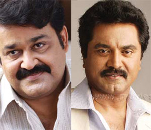 Mohanlal and Sarath kumar in Television Ad