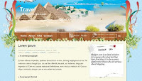 travel blogspot template
