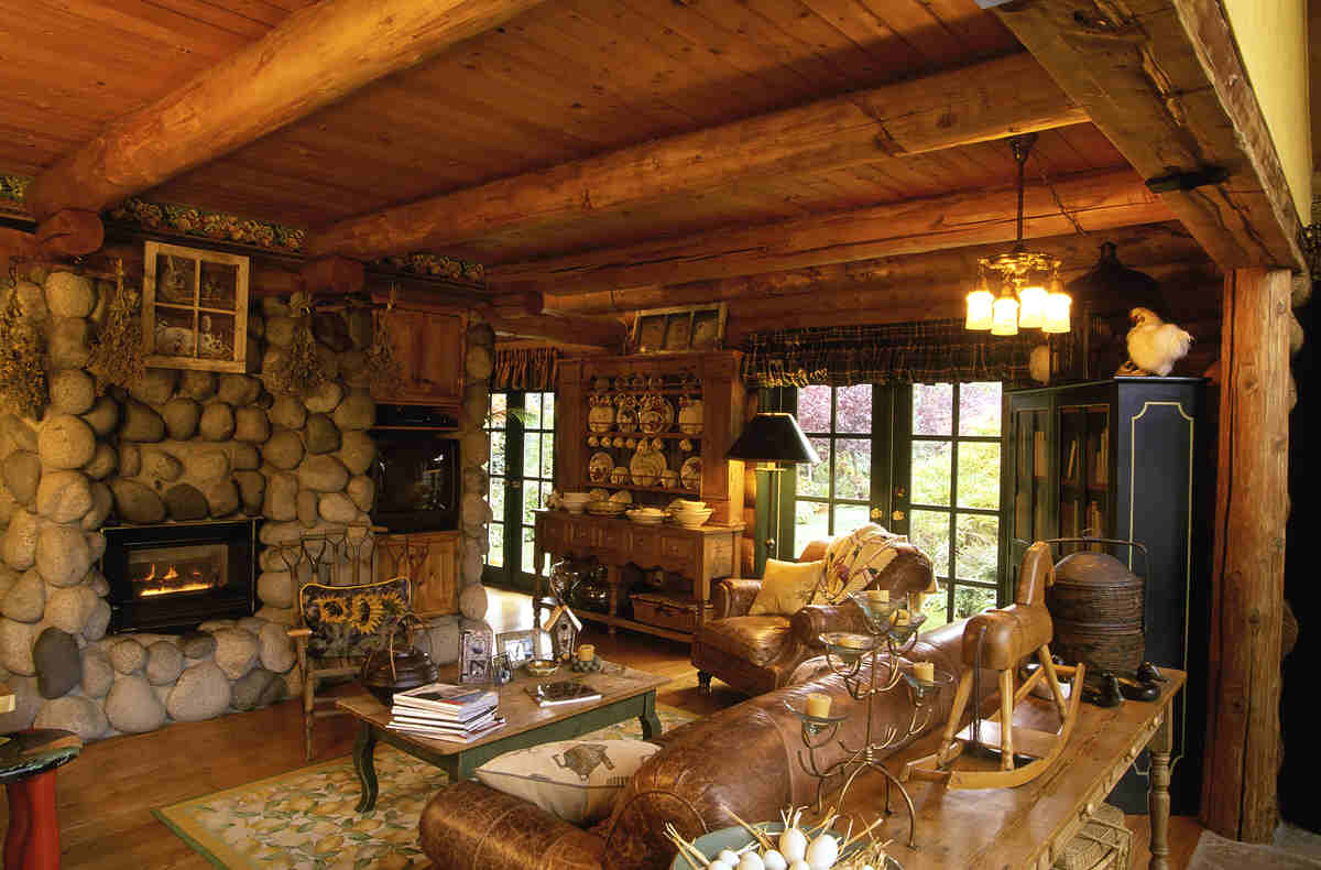 Rustic Log Cabin Homes Interior