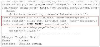 Keywords pentru Blogspot