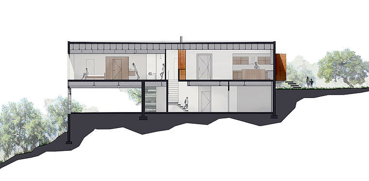 Section Through Home From Sparano + Mooney Website Gallery