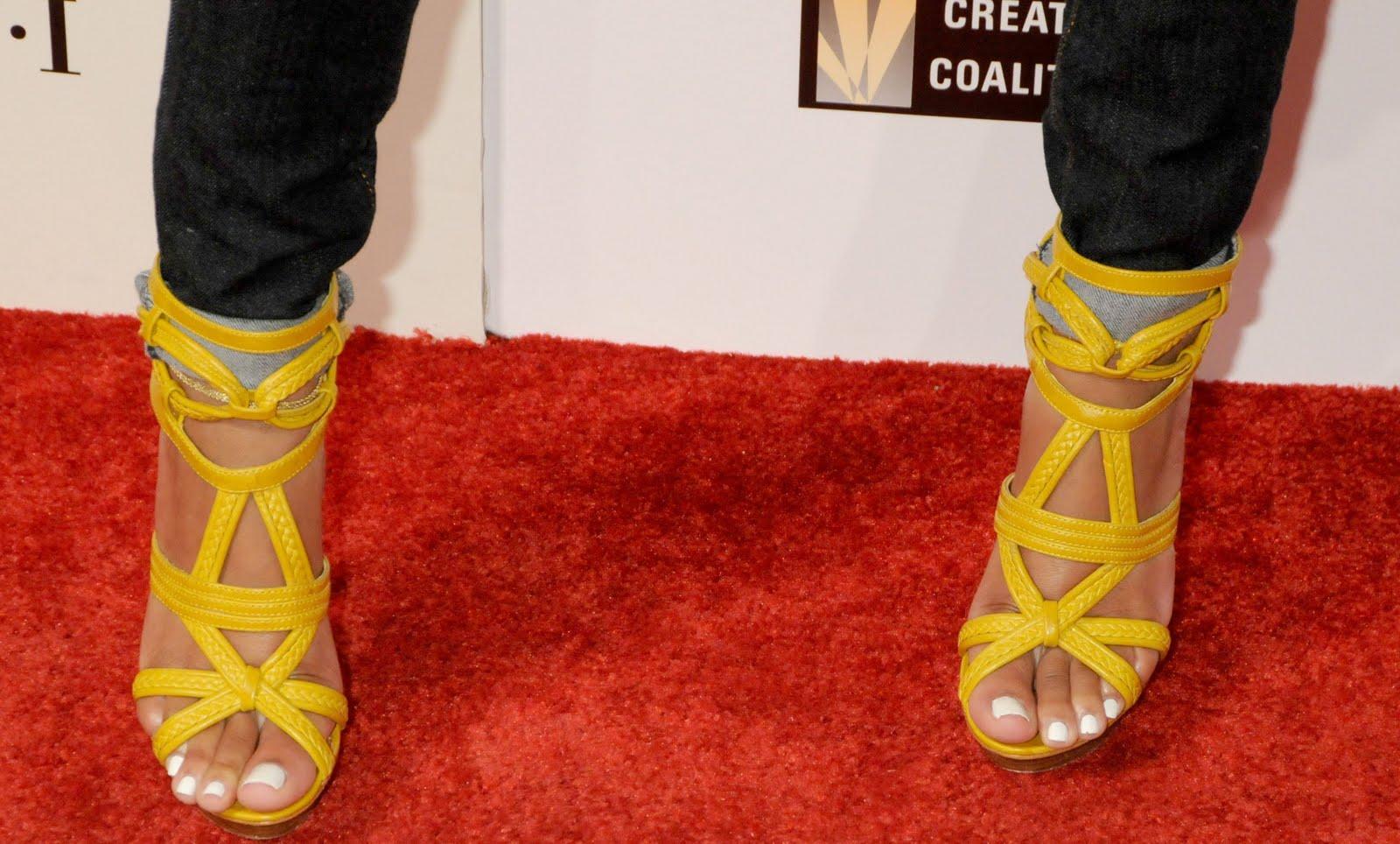 Meagan good shoe size celebrity feet size