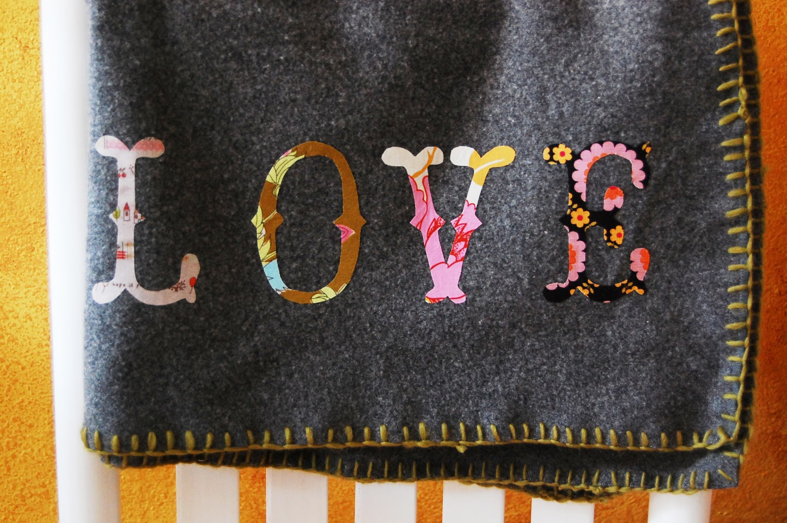 maize hutton: personalize a $3 fleece lap throw diy/two thrifty versions