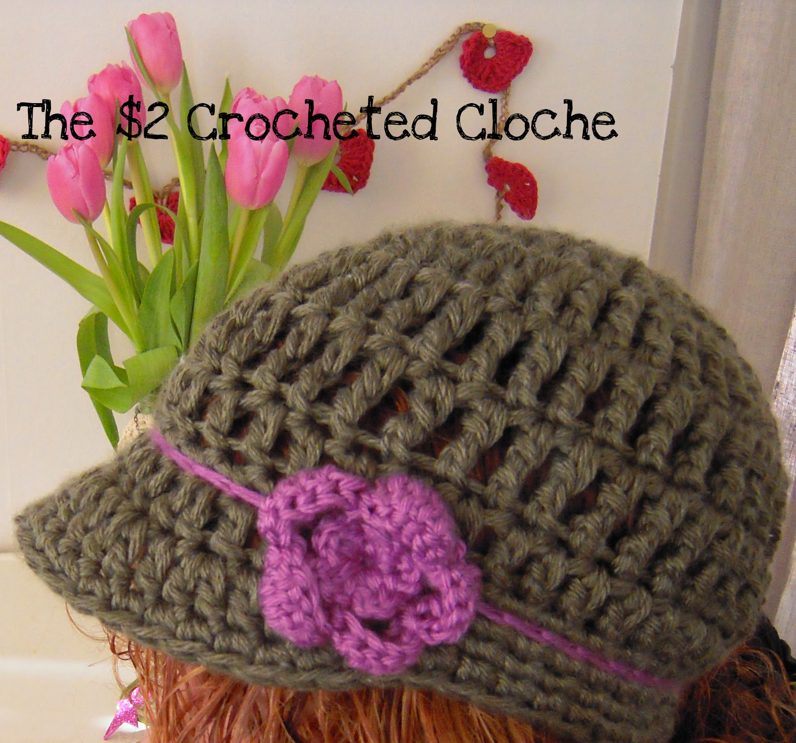 Cloche Hat - AllFreeCrochet.com - Free Crochet Patterns, Crochet
