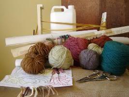 material para fazer um tapete de arraiolos