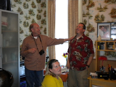 Steven and Dad making Birthday speeches