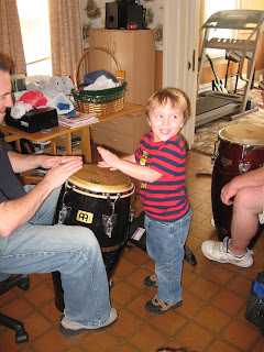 Brian playing the congas with his Uncle John