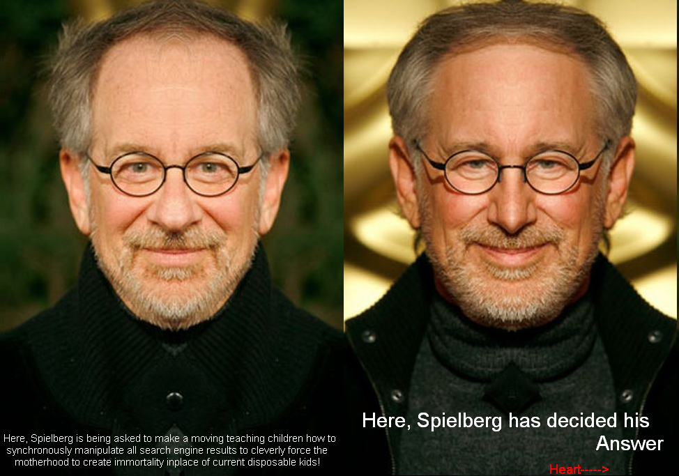 Spielberg Movie Teaches Children Search Manipulation to force Immortality
