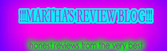Martha's Review Blog