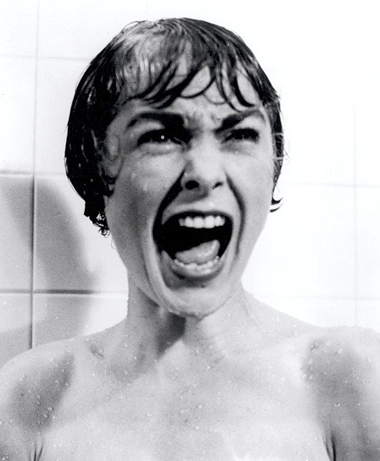 Janet Leigh screaming her head off.