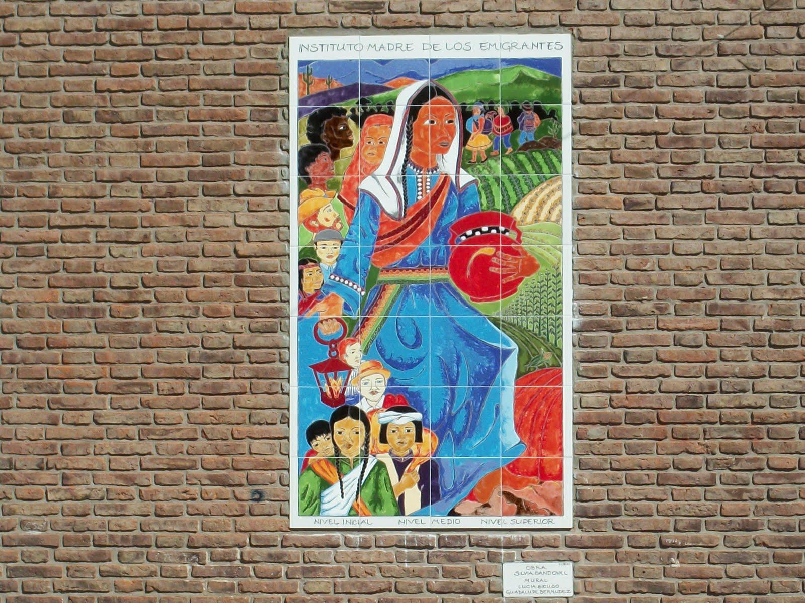Santuario madre de los emigrantes madre de los migrantes for Mural de la casa del migrante