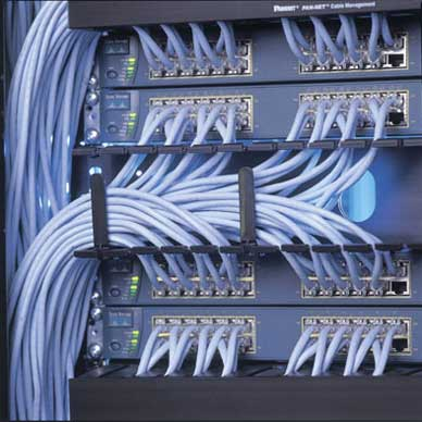 How does ethernet patch panel work