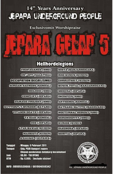 Jepara Gelap 5 Anniversary Jepara Underground People