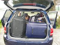 Unser Gepäck vor dem Start