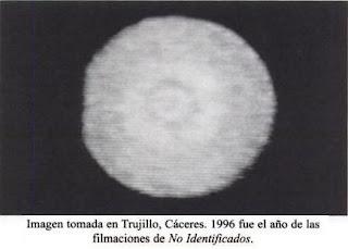 Imagen del OVNI de Trujillo (Extremadura) de 1996