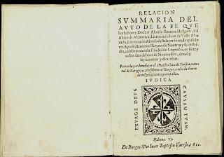 Imagen del ejemplar impreso en Burgos en 1611, al tiempo del impreso por Mongastón en Logroño