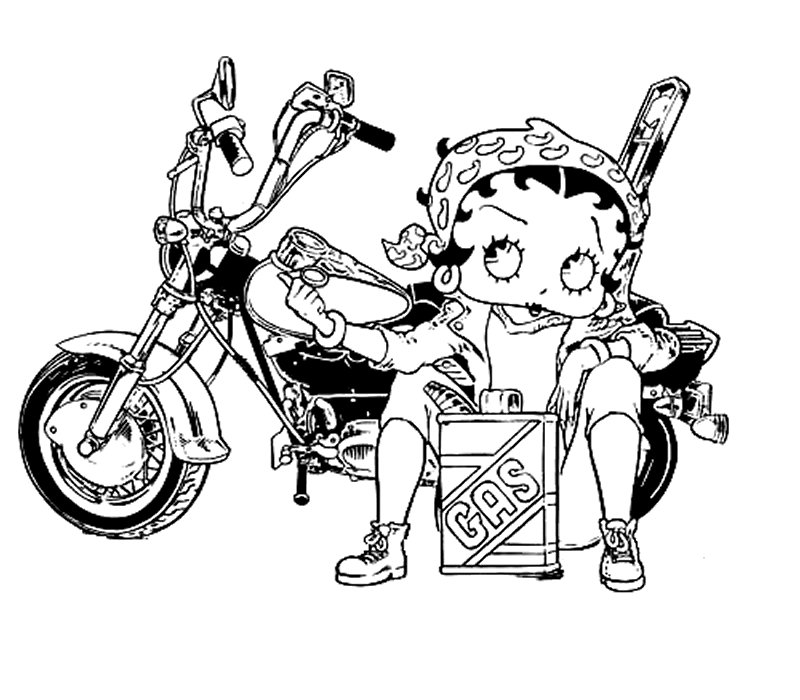 Betty Boop Pictures Archive: Betty Boop coloring book page pictures