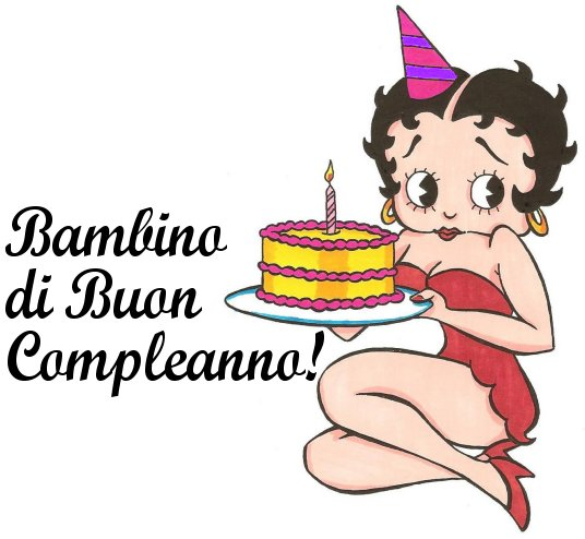 betty boop happy birthday italian greetings - Betty Boop Coloring Pages Birthday