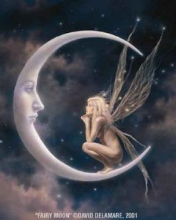 Hada sentada en luna