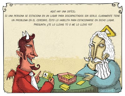 Humor gráfico Dios y Diablo