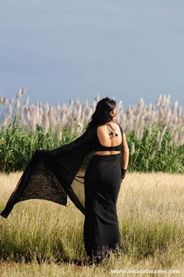Masala Actress Blog Charmi Looking Hot Black Saree