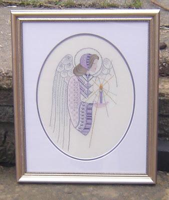 Twilight angel, framed: Gay Ann Rogers, designer