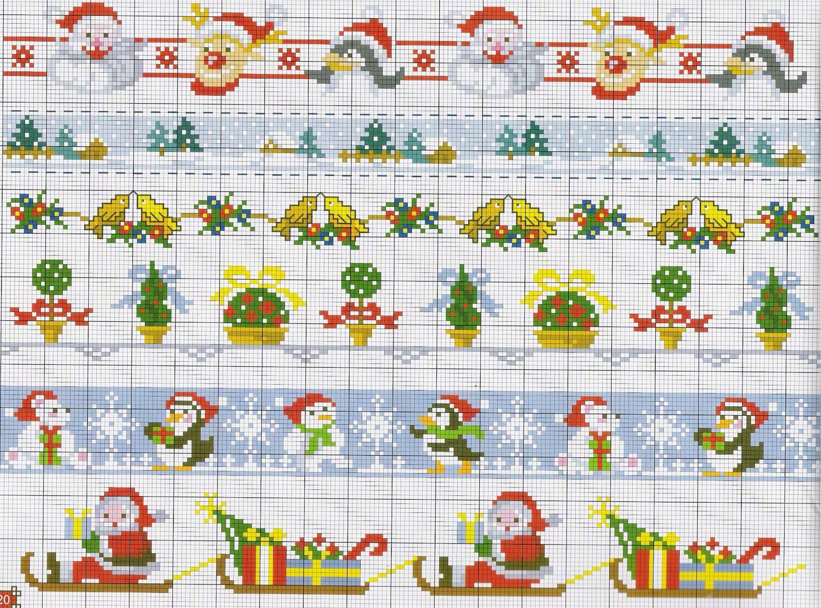 1000 images about cross stitch on pinterest margaret - Manteles para navidad ...