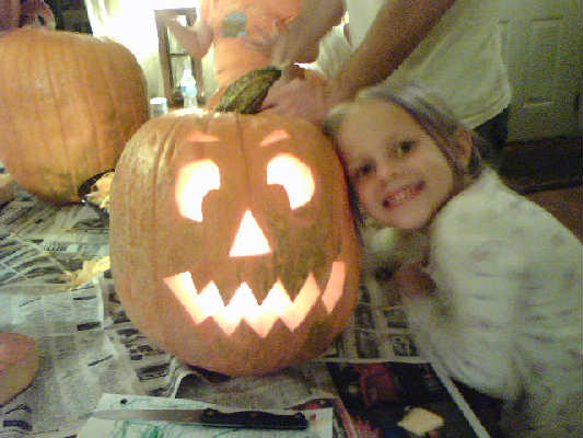 Briia and her pumkin
