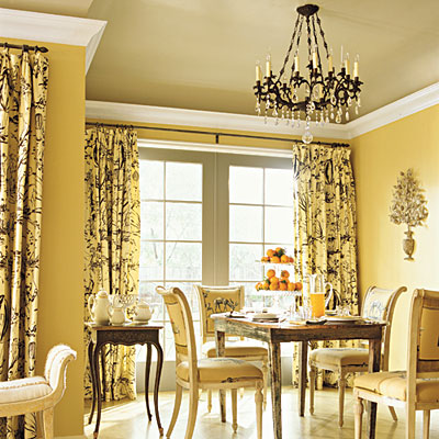 C b i d home decor and design exploring wall color the for Grey yellow dining room ideas
