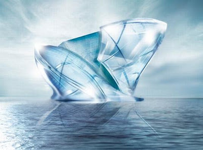dubai's blue ice crystal complex