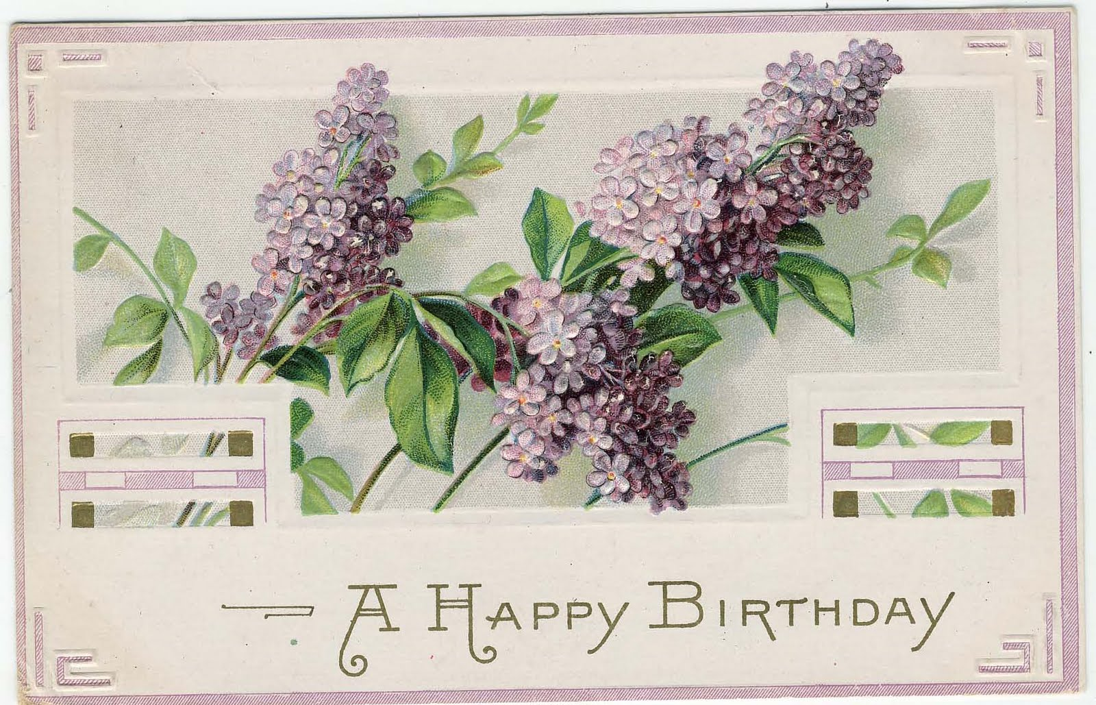 Vintage Flowers Birthday Cards ~ Vintage birthday clip art free vintage birthday card scroll with