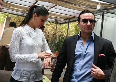 kareena  kapoor  and  saif  ali khan  at  IPL  bid  event  photos.