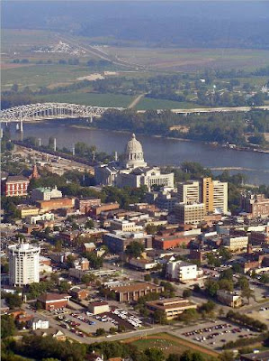 Jeff City aerial view
