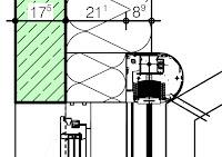 wolfbau raffstore und fassadenschnitt. Black Bedroom Furniture Sets. Home Design Ideas