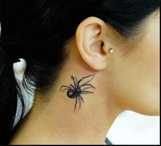 Spider Tattoo 3D