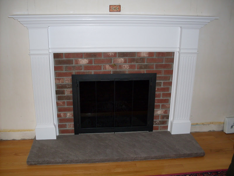 White Brick Fireplace Mantel Surround